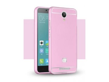 Hliníkový kryt (obal) pre Xiaomi Redmi Note 2 - pink (ružový)
