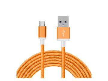 Dátový kábel micro USB - oranžový
