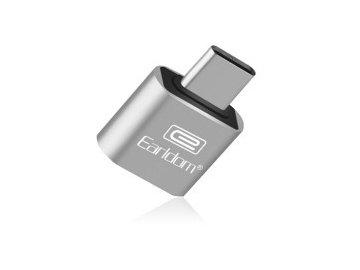 Adaptér Earldom OTG ET-OT18 z USB na typ C - strieborný