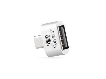Adaptér Earldom OTG ET-OT3 z USB na micro USB - biely