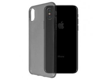 Silikónový kryt na iPhone X čierny