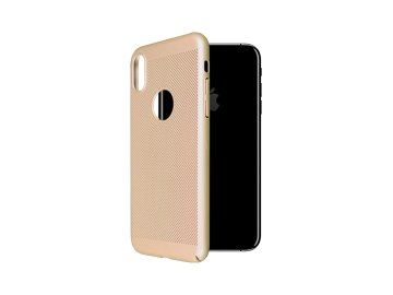 "Plastový kryt ""OKKES"" pre iPhone X/XS - zlatý"