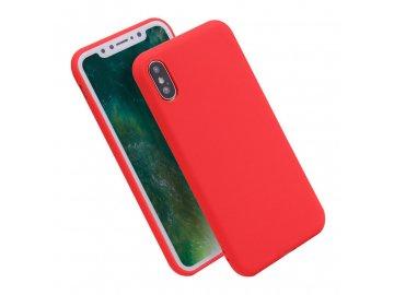 Silikónový obal na iPhone X červený