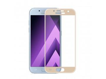 3D tvrdené sklo pre Samsung Galaxy A3 2017 (A320F) - zlaté