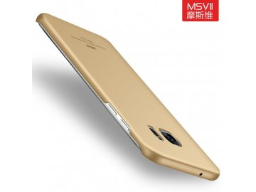 Plastový kryt pre Samsung Galaxy S6 Edge - simple gold