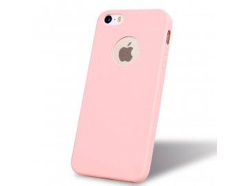 Silikónový kryt (obal) pre Iphone 5 5S SE - pink (ružový 66bba9a97b5