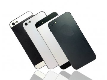 Dizajnová wrap fólia pre Iphone 5/5S/SE - čierne telo a čierne okraje
