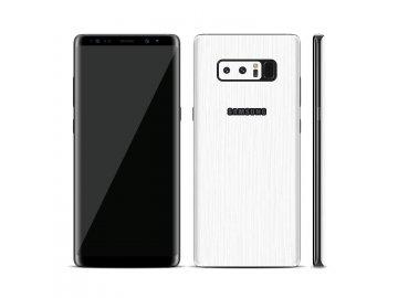 Dizajnová wrap fólia pre Samsung Note 8 - biela (vzor kôry stromu)