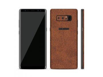 Dizajnová wrap fólia pre Samsung Note 8 - hnedá (vzor kože)