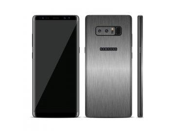 Dizajnová wrap fólia pre Samsung S8 - metalická šedá