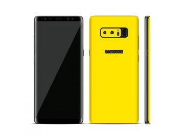 Dizajnová wrap fólia pre Samsung S8 - žltá