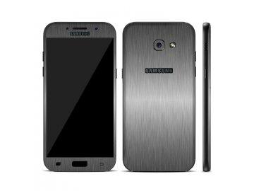 Dizajnová wrap fólia pre Samsung A3 2017 (A320F) - metalická šedá