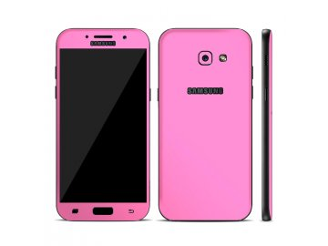 Dizajnová wrap fólia pre Samsung A3 2017 (A320F) - ružová