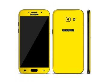 Dizajnová wrap fólia pre Samsung A3 2017 (A320F) - žltá