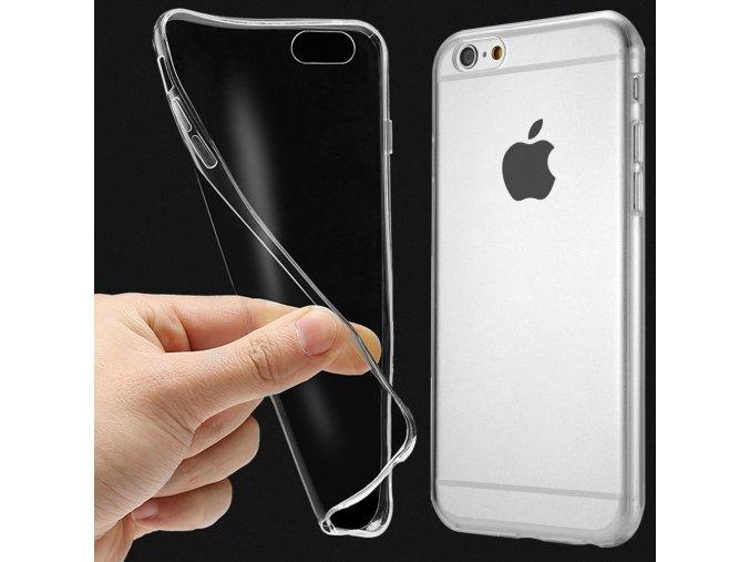 Silikónový kryt (obal) pre iPhone 6/6S - clear (priesvitný)