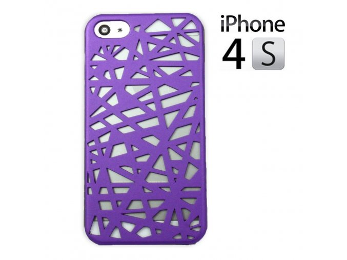 Plastový obal pre Iphone 4/4S - fialový (purple)