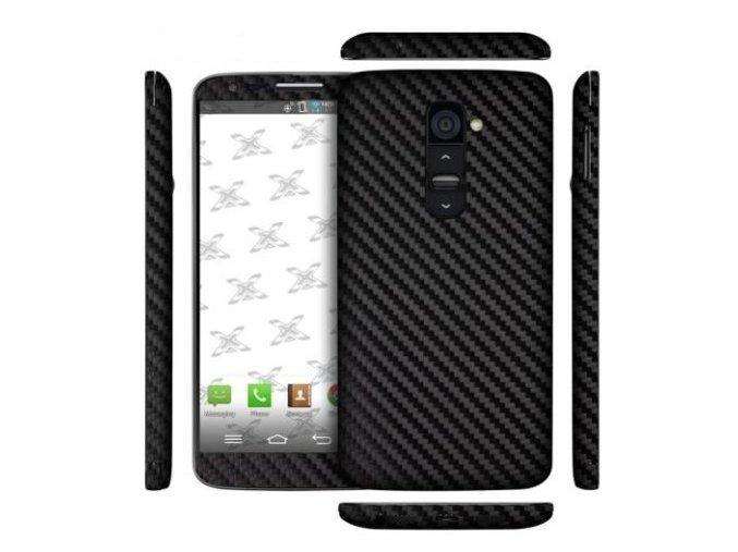 Dizajnová wrap fólia pre LG G2 - black (čierna)