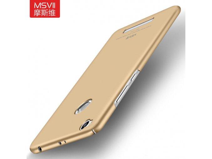 Plastový kryt (obal) pre Xiaomi Redmi 3Pro/3S - gold (zlatý)