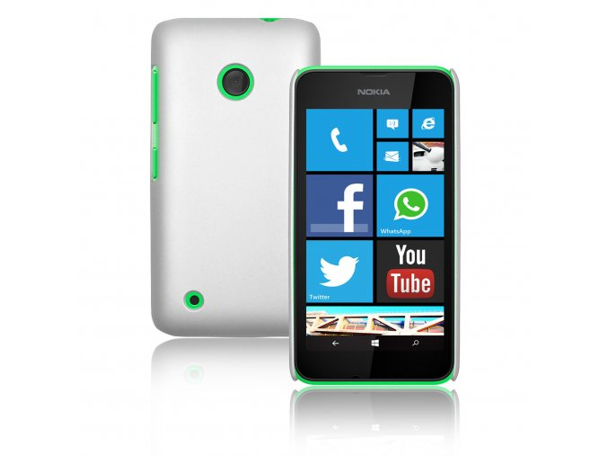 Plastový kryt (obal) pre Nokia Lumia 530 - white (biely)