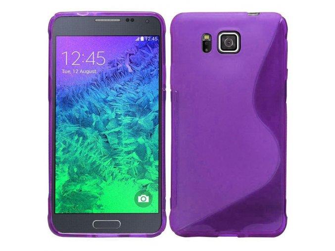 Silikónový kryt (obal) pre Samsung Galaxy Alpha (G850F) - fialový