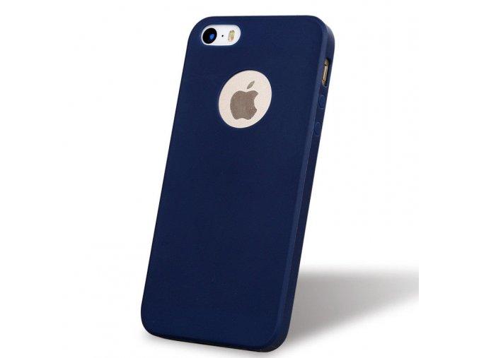 Silikónový kryt (obal) pre Iphone 5/5S/SE - dark blue (tm. modrý)