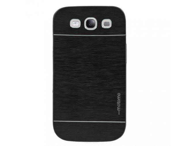 Kryt (obal) pre Samsung Galaxy S4 - hliník/plast - čierny
