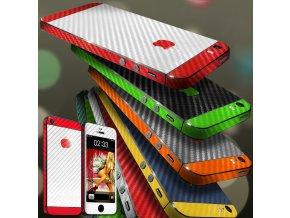 Dizajnová wrap fólia pre Iphone 4S - čierno-zelená