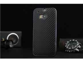 Plastový kryt (obal) pre HTC One M9 - black (čierny) - vrúbkovaný