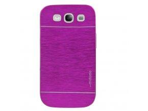 Kryt (obal) pre Samsung Galaxy S4 - hliník/plast - ružový