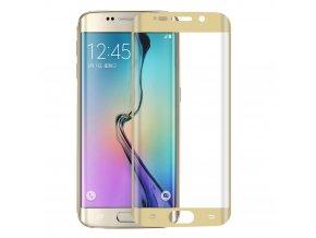 Tvrdené sklo pre Samsung Galaxy S6 Edge - zlaté (gold)