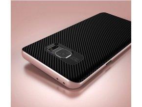 Gumový kryt (obal) pre Samsung Galaxy Note 7 - čierny s rose gold okrajmi
