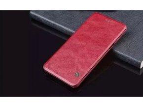 Kožené Flip Case (puzdro) pre Samsung Galaxy Note 7 - červené (red)