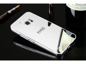Hliníkový kryt (obal) pre HTC 10 - strieborný (silver)