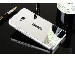 Hliníkový kryt (obal) pre Nokia Lumia 550 - strieborný (silver)