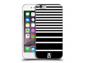 Pruhovaný kryt (obal) pre iPhone 7 - čierno-biely