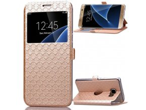 Flip Case (puzdro) pre Samsung Galaxy S8 Plus - gold (zlaté)
