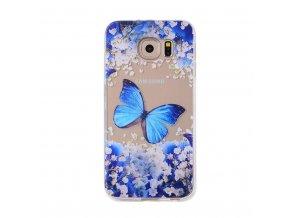 Silikónový kryt (obal) pre Samsung Galaxy A3 2017 - motýľ