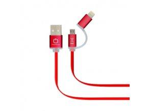 Dátový kábel POWERSTAR 2v1 - červený