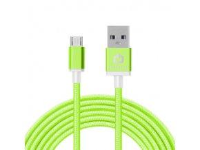 Dátový kábel POWERSTAR micro USB - zelený