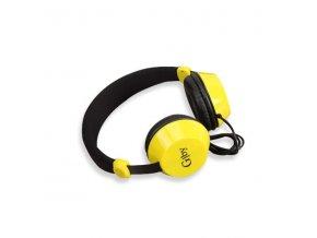 Slúchadlá  On-Ear Stereo Headset EP-17 black - čierno-žlté