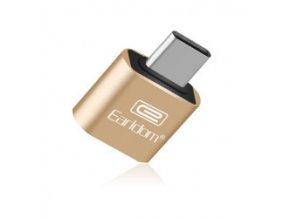 Adaptér Earldom OTG ET-OT18 z USB na typ C - zlatý