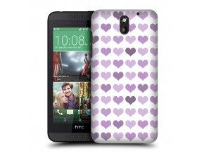 Plastový kryt (obal) pre HTC Desire 610 - srdiečkový/fialový