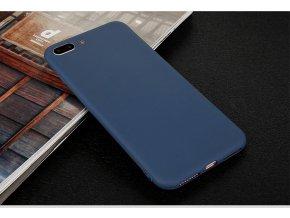 Silikónový kryt pre iPhone 7+/8+ (PLUS) - tm. modrý