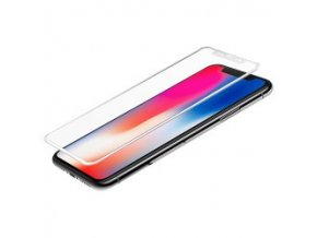 Star-Case 3D tvrdené sklo pre iPhone X s bielymi okrajmi