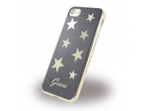 GUESS Star silikónový kryt pre iPhone 7 / 8 - čierny