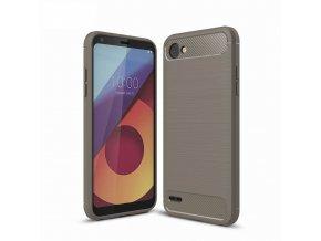 Silikónový kryt (obal) pre LG Q6 - grey (šedý)