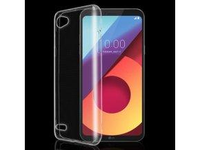Silikónový kryt (obal) pre LG Q6 - clear (priesvitný)