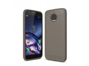 Silikónový kryt (obal) pre Lenovo (Motorola) Moto G5+ (PLUS) - grey (šedý)