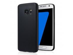 Silikónový kryt (obal) pre Samsung Galaxy S6 Edge - black (čierny)