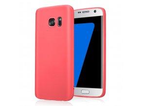 Silikónový kryt (obal) pre Samsung Galaxy S6 Edge - red (červený)